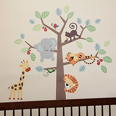 Lambs \u0026 Ivy\u00ae Treetop Buddies Wall Decals Set of 4  Bed Bath \u0026 Beyond