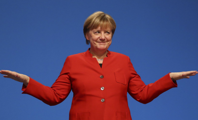 Angela Merkel,a female politician becomes the head of German government again, the fourth time