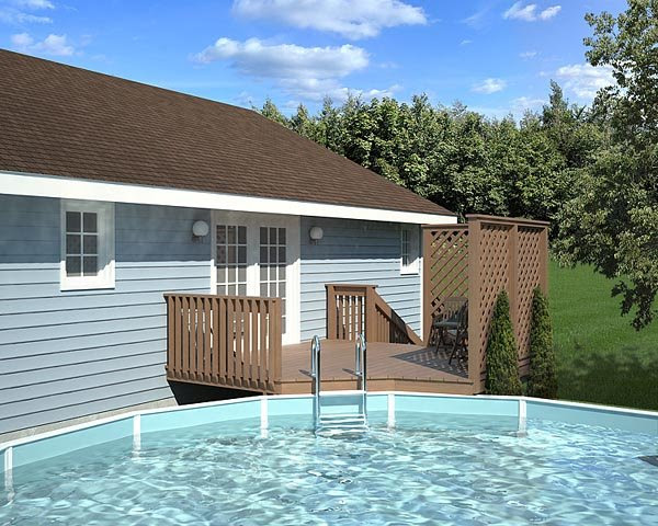 Project Plan 90004 Easy Pool Deck W Privacy Screen