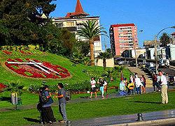 """Vista del """"Reloj de flores"""", uno de los principales hitos turísticos de la ciudad"""