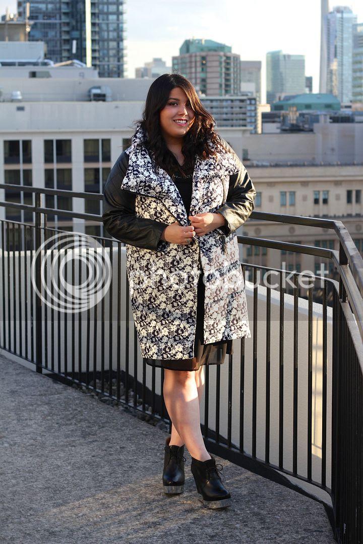 Carmakoma Kadina Jacket Junarose Embellished Shift Dress plus size fashion plus size toronto canada fashion