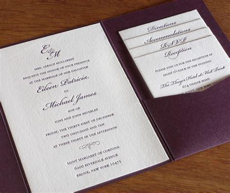 Monogrammed Letterpress Wedding Invitation Gallery
