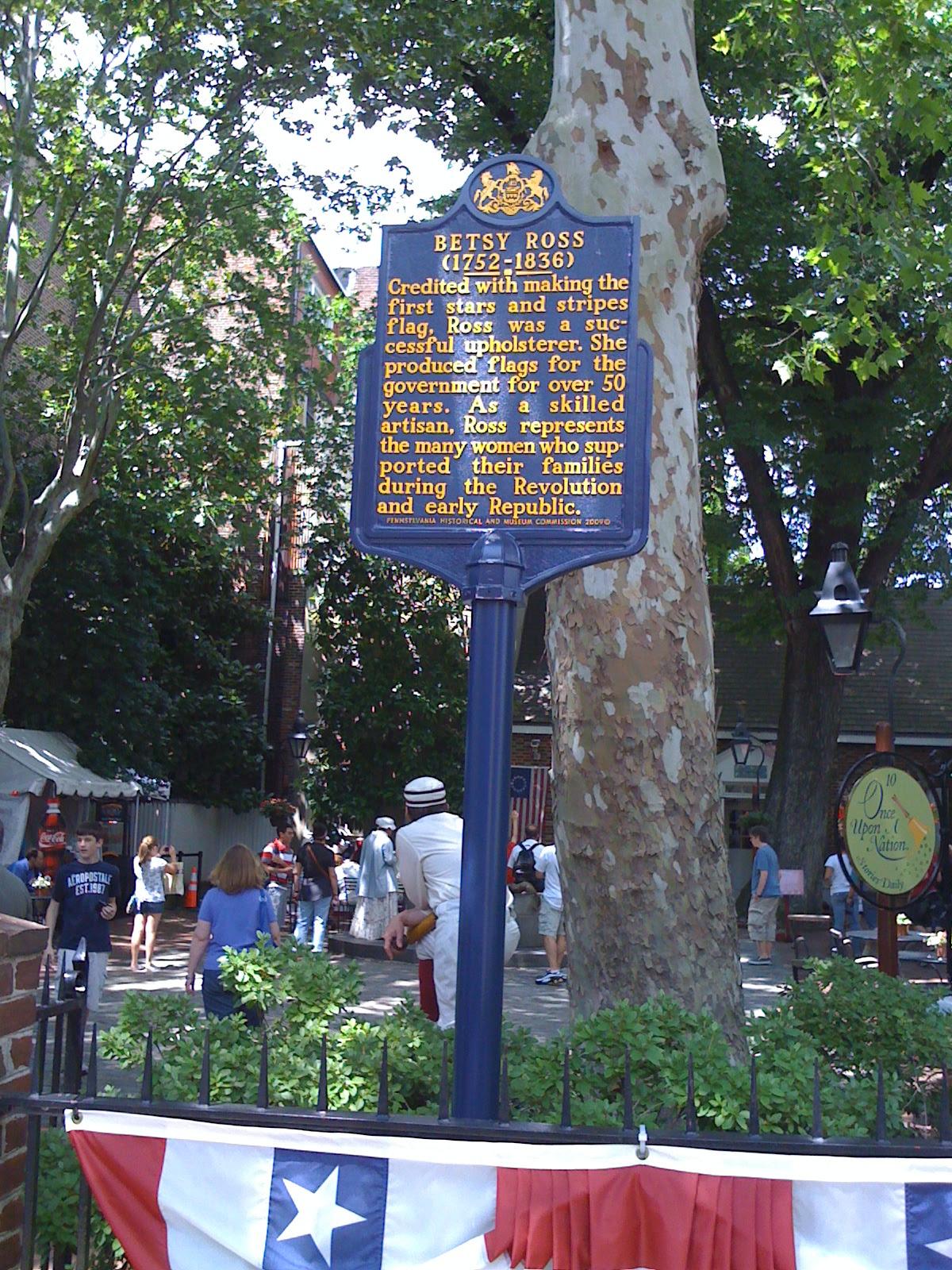Betsy Ross Pennsylvania Historical Marker