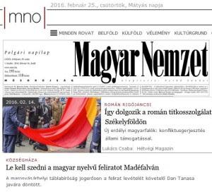 Dan Tanasa atacat de Maghiar Nemzet