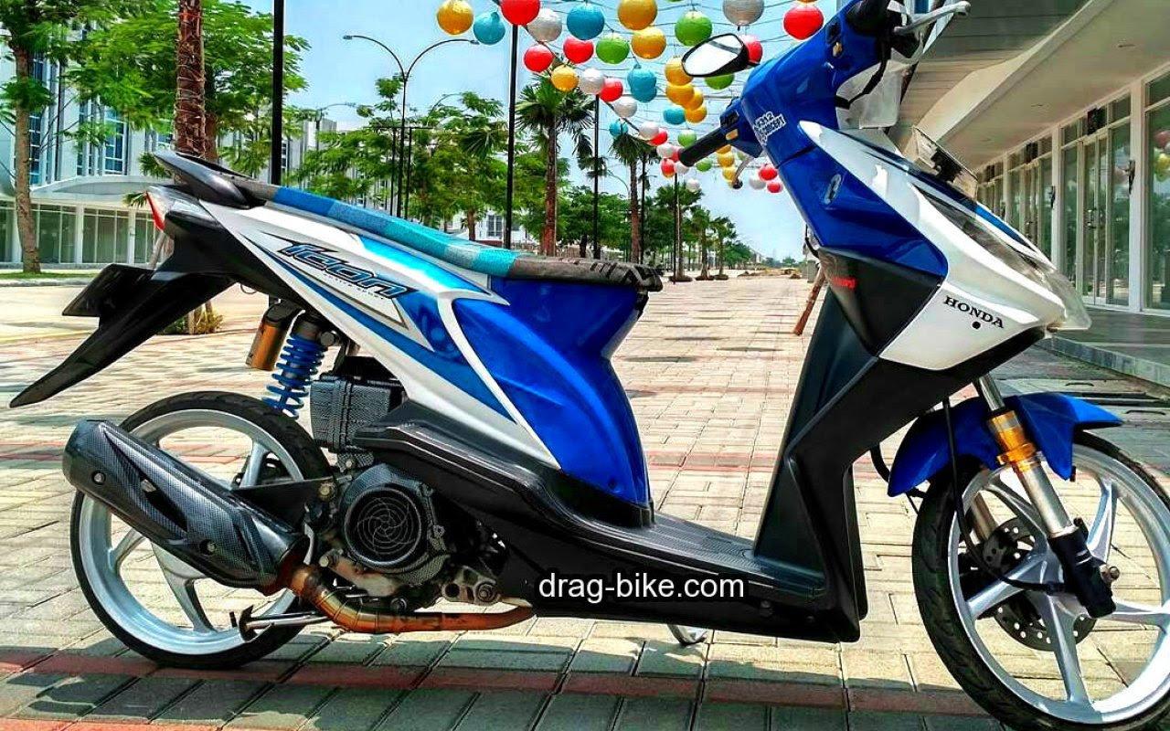 71 Modifikasi Motor Beat Fi Putih Biru Terlengkap Kempoul Motor