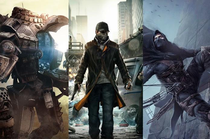 Titanfall, Watch Dogs e Thief são alguns dos jogos mais esperados de 2014 (Foto: Montagem / Divulgação)