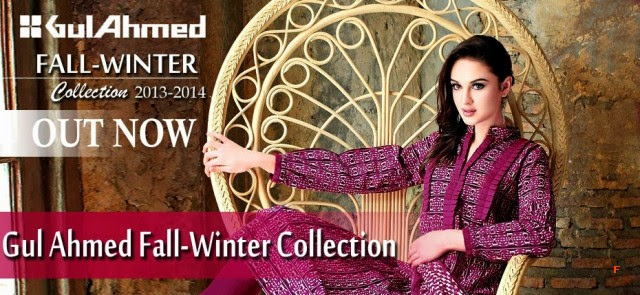 Beautiful-Cute-Girls-New-Fashion-Dress-Design-by-Gul-Ahmed-Fall-Winter-Collection-2013-14-