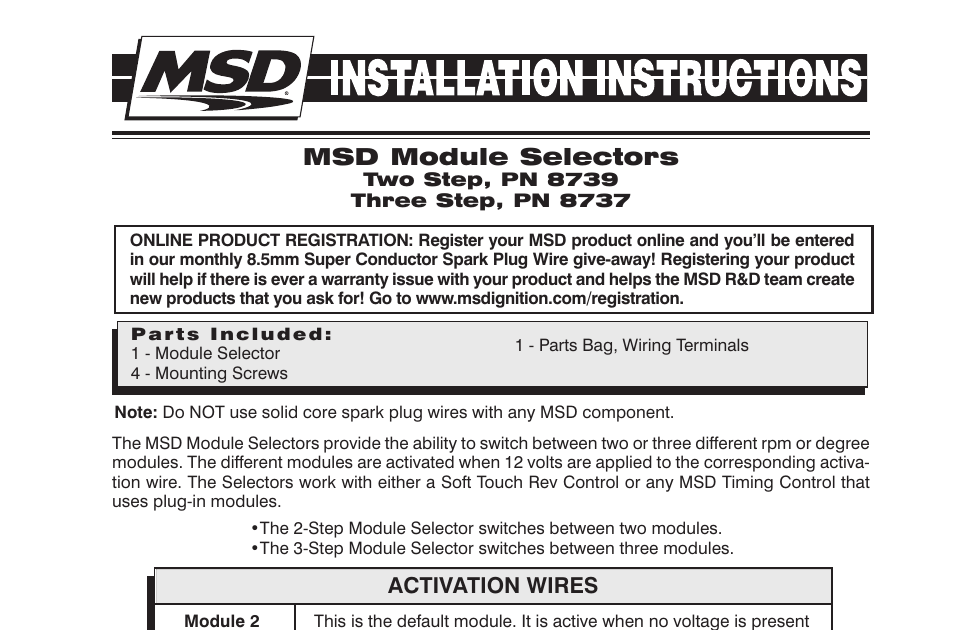 Wiring Diagram  29 Msd 2 Step Wiring Diagram