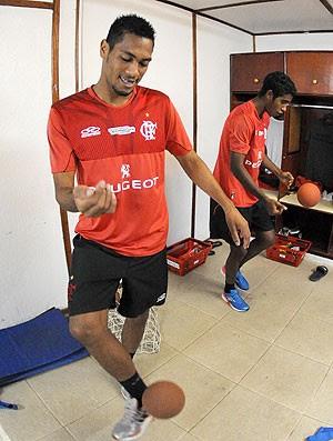 Hernane treino Flamengo (Foto: Alexandre Vidal / Fla Imagem)