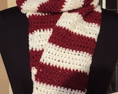Candy Cane Stripes Scarf  ---  Ready to Ship