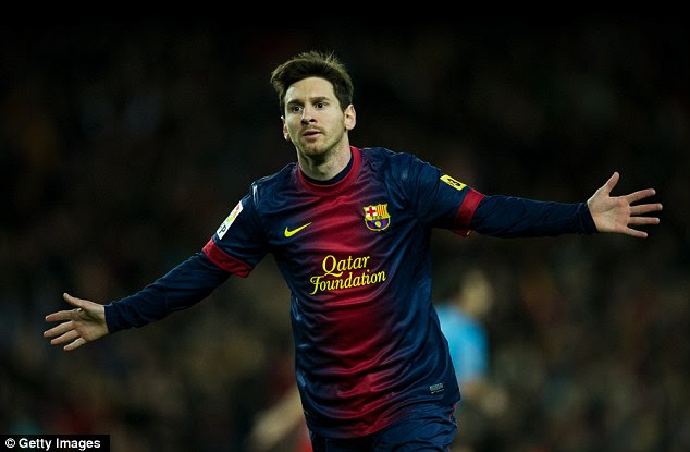 What, not me? Lionel Messi finished third in the poll of Argentine journalists