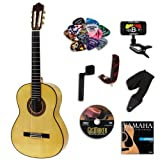 Yamaha CG172SF Classical Guitar BUNDLE w/ Legacy Accessory Kit (Tuner, DVD, Picks, Capo and More)