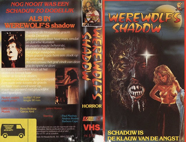 Werewolf's Shadow (VHS Box Art)