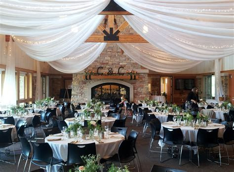 Elm Creek Chalet. Ceiling by Grand Designs   Wedding and