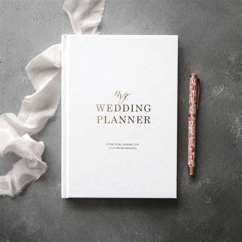 pre order gold foil wedding planner   engagement gift by