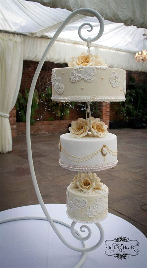 Creative wedding cake stand   WeddingElation