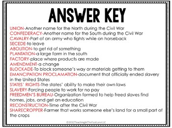 32 Civil War And Reconstruction Worksheet Answers ...