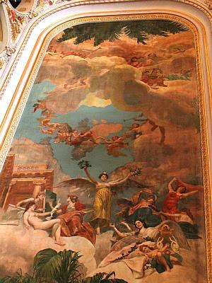 'Olimpo dos Artistas' é uma pintura em perspectiva de Domenico de Angelis (Foto: Frank Cunha/G1 AM)