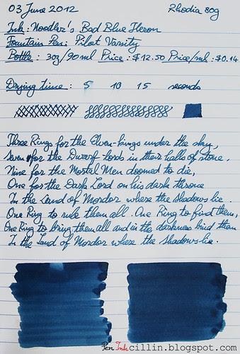 Noodler's Bad Blue Heron Rhodia