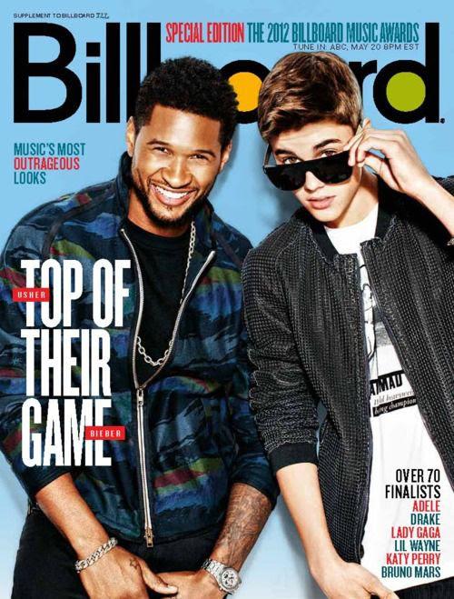 Billboard (May 2012), Usher, Justin Bieber