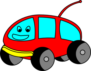 Cartoon Car With A Face Clip Art