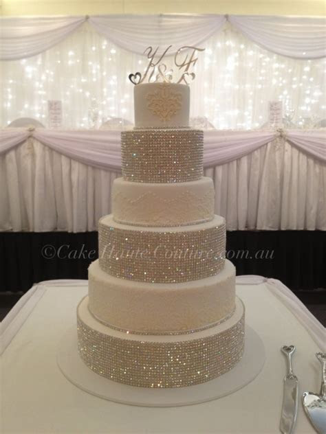 Super Bling Wedding Cake   CakeCentral.com