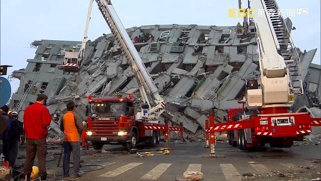 高雄地震 / 地震重創台南 維冠大樓倒塌空拍畫面驚人 | 時事 | 聯合影音