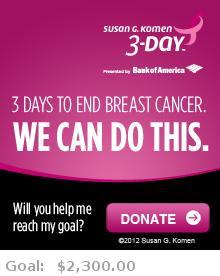 Help me reach my goal for the Susan G. Komen San Francisco Bay Area 3-Day