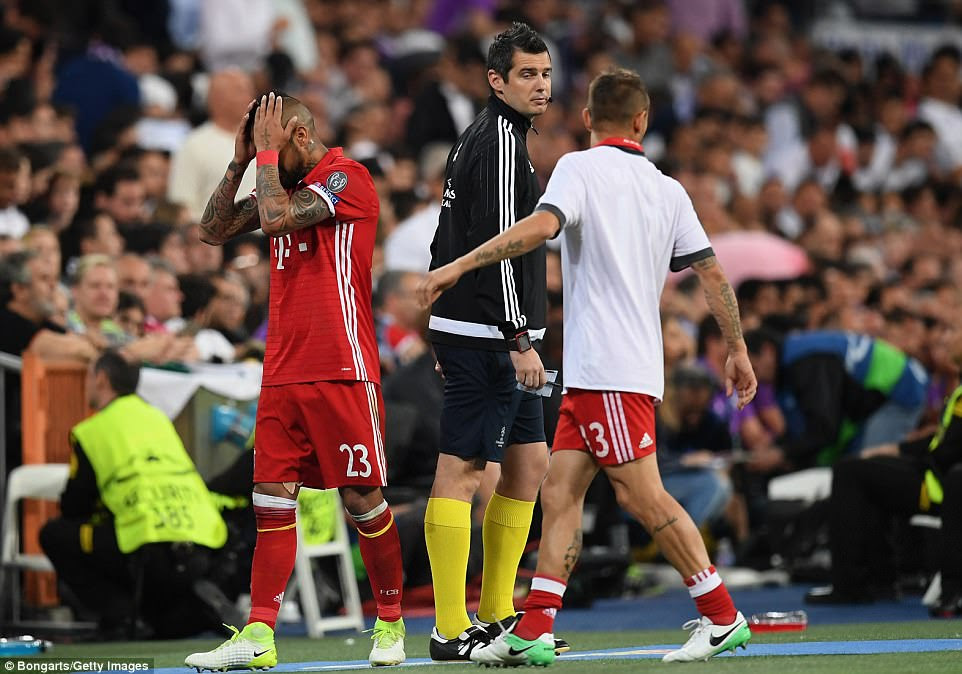 The midfielder knew he was in trouble but was still left distraught when referee Viktor Kassai pulled out the red card