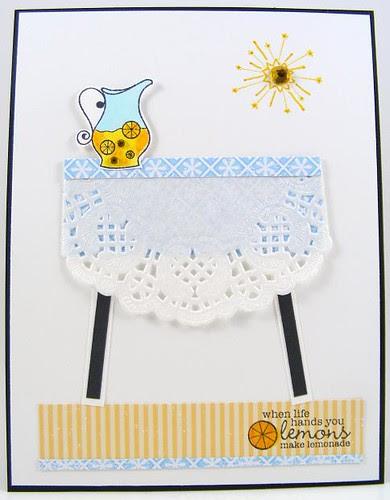 Lemonade Table Card