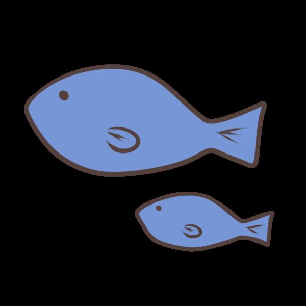 魚の親子のイラスト かわいいフリー素材が無料のイラストレイン