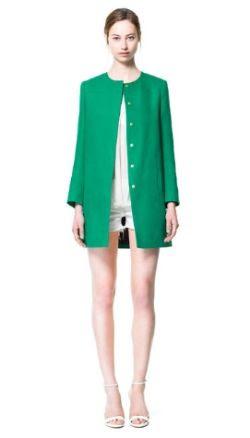 Zara Crew Neck Coat