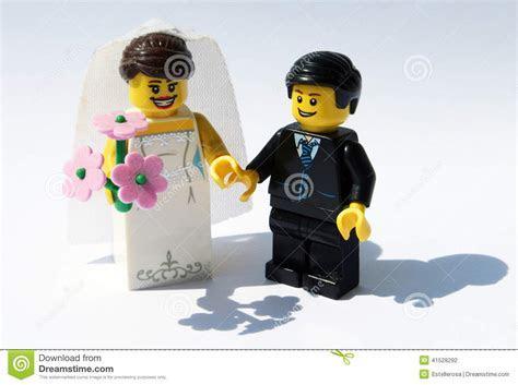 Lego bride and groom stock photo. Image of figurine