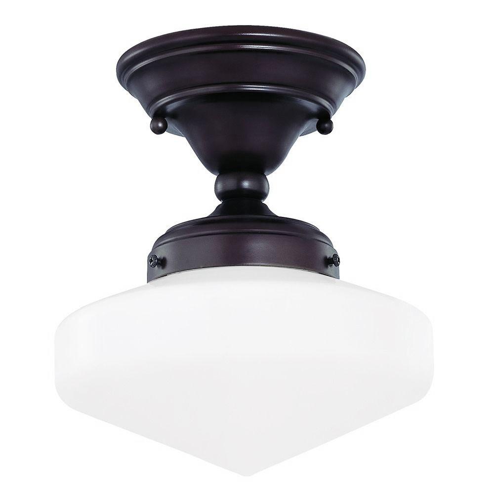 low profile 1 light schoolhouse ceiling fan light kit walmart com