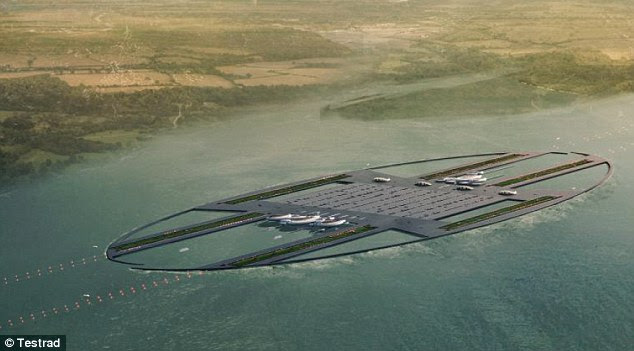 Rivals: As a result of Testrad's plans, Heathrow airport would likely have to close to accommodate the ambitious scheme