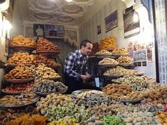 Bolinhos marroquinos à venda em Marrakech