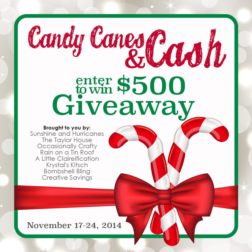 Candy Canes and Cash $500 Giveaway