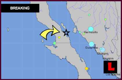 Mexico Earthquake Today 2012 Felt South of San Diego in Baja California