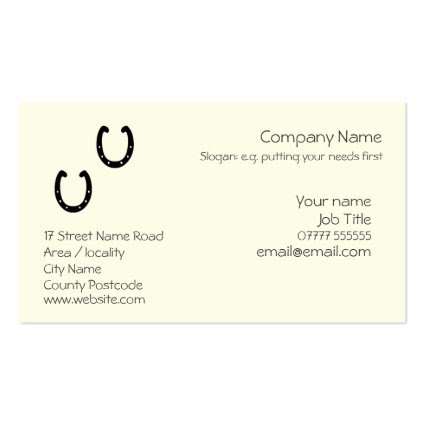 Horseshoe Generic business card template