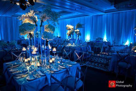 Blue Wave Theme Indian Wedding Reception   Maharani Weddings