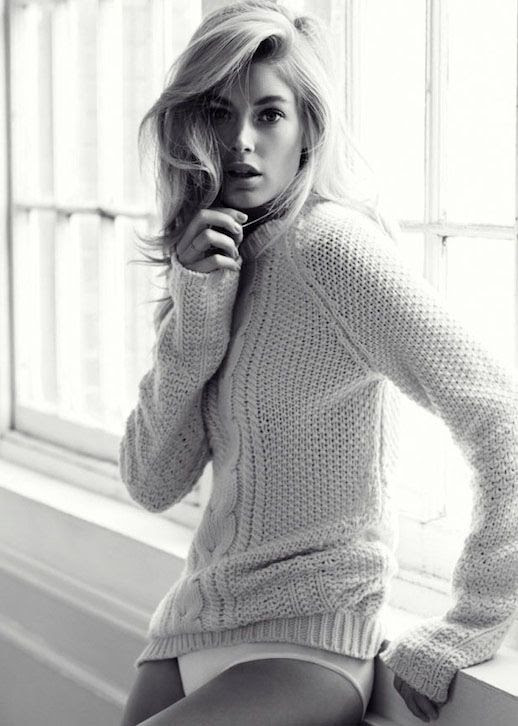 LE FASHION BLOG EDITORIAL PURE INTENTIONS DOUTZEN KROES WILL DAVIDSON TELEGRAPH UK BLACK WHITE PHOTO CABLE KNIT SWEATER WHITE BRIEFS UNDERWEAR LINGERIE LOUNGEWEAR DELICATE NECKLACE BLONDE HAIR BEAUTY FIFTH HIGHEST PAID MODEL IN THE WORLD PURE INTENTIONS CLARE RICHARDSON TAMARA MCNAUGHTON CHIHO OMAE 2 photo LEFASHIONBLOGEDITORIALPUREINTENTIONSDOUTZENKROESWILLDAVIDSONTELEGRAPHUKBLACKWHITEPHOTO2.jpg