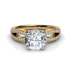 Split Shank Pave Diamond Engagement Ring Natalie Diamonds