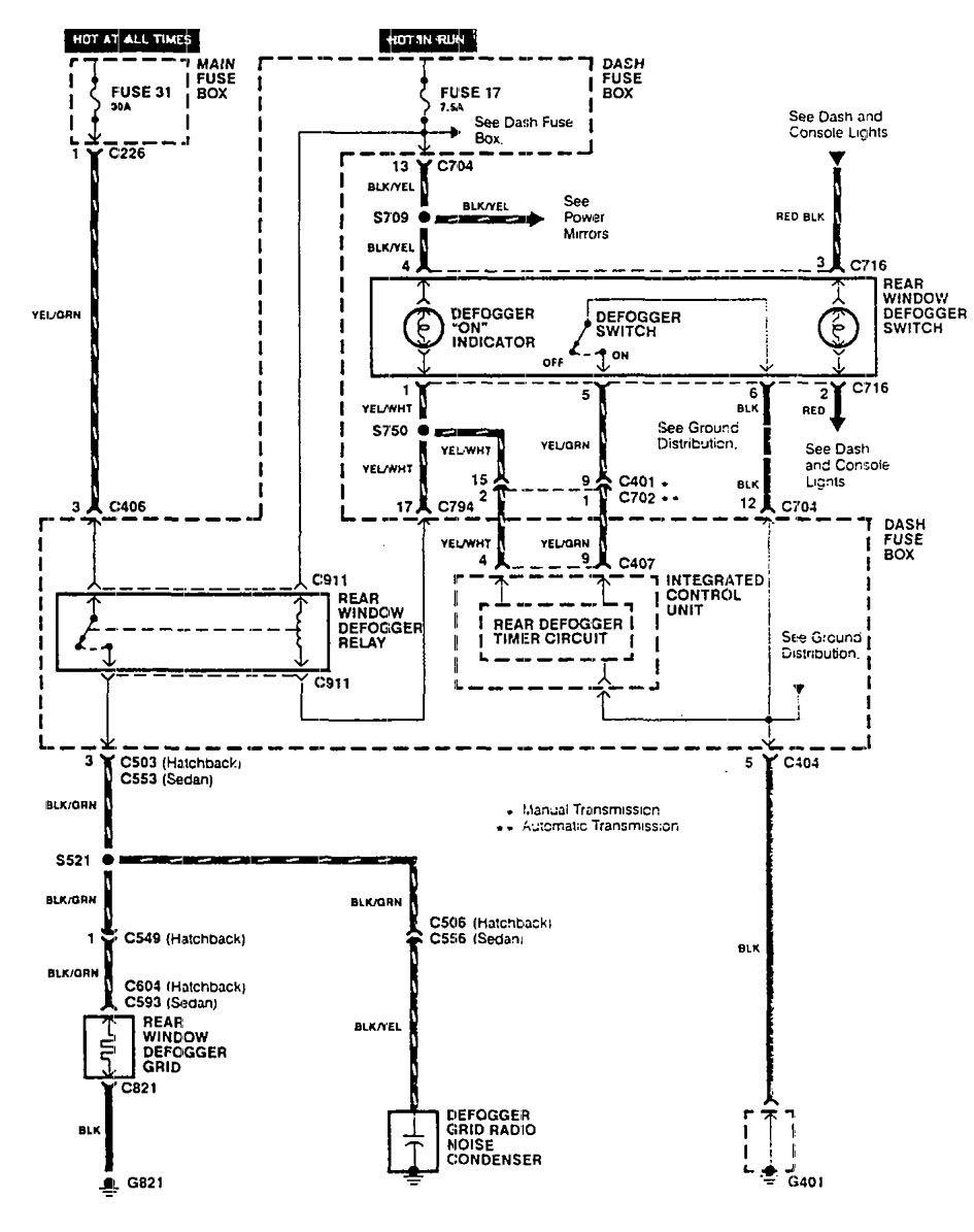 2001 Acura Integra Wiring Diagram