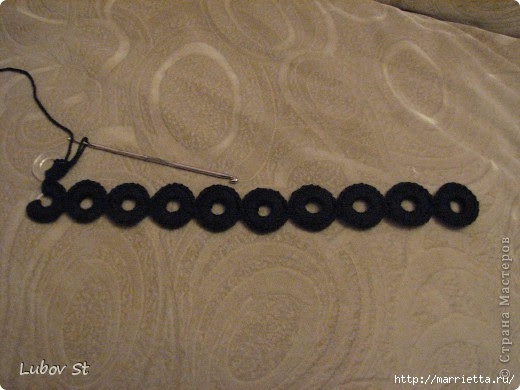 Handbag of the rings with beads.  Crochet without interrupting the thread (6) (520x390, 113Kb)