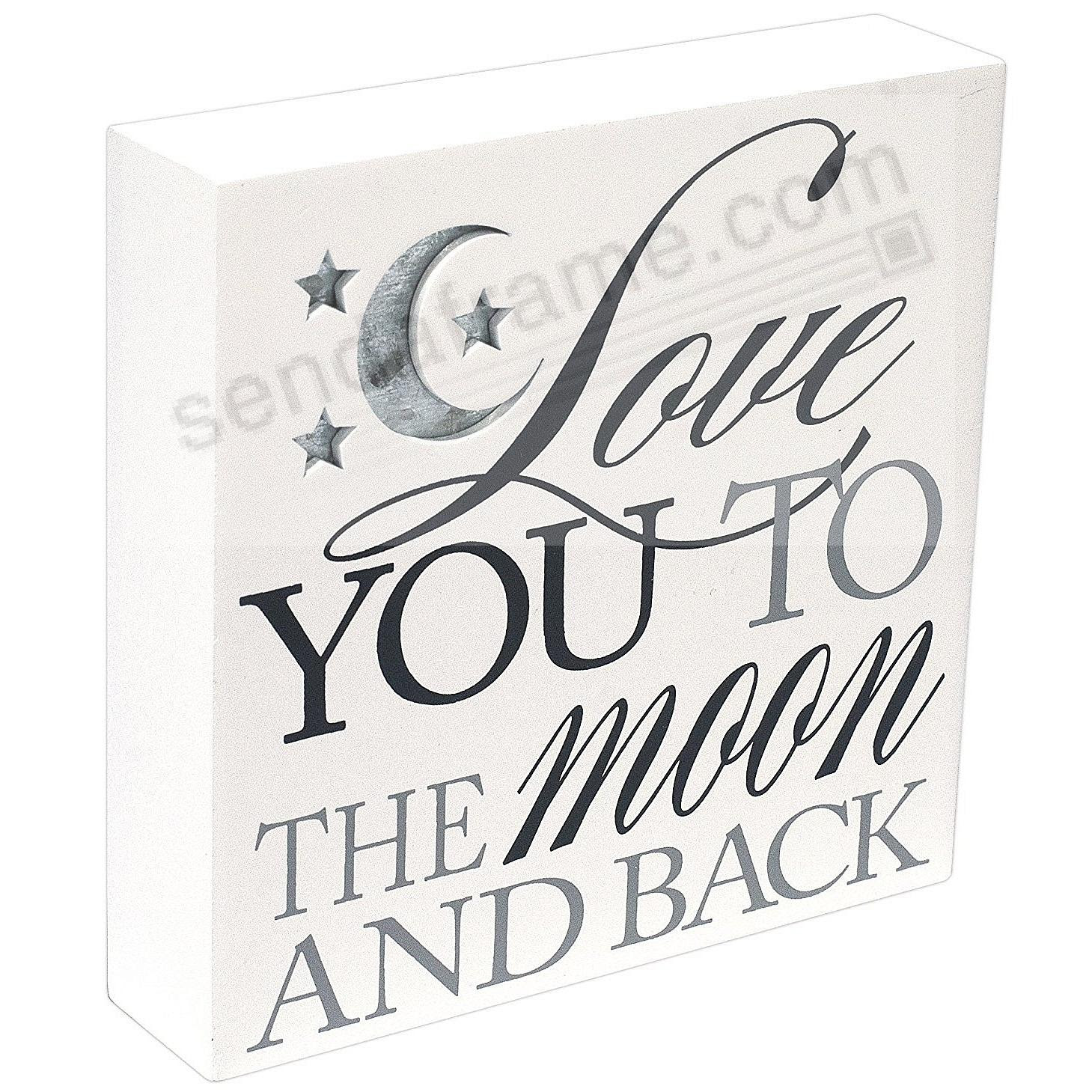 Love You To The Moon And Back White Box Sign Picture Frames Photo
