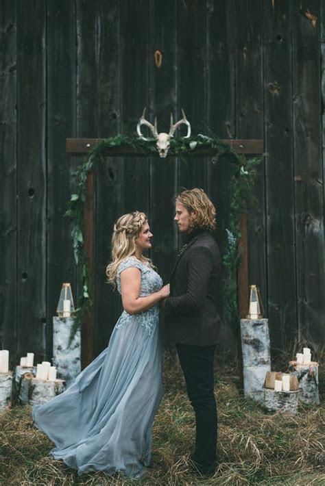 Nordic Inspired Woodland Wedding   Wedding Ceremony