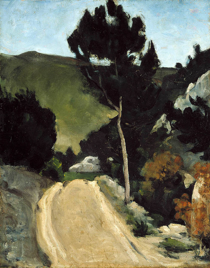 birdsong217:  Paul Cézanne (1839-1906) Winding Road in Provence, c.1866. Oil on canvas