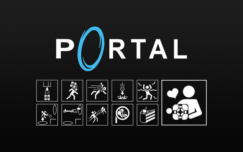 portal 2 logo wallpaper. hd portal 2 background.