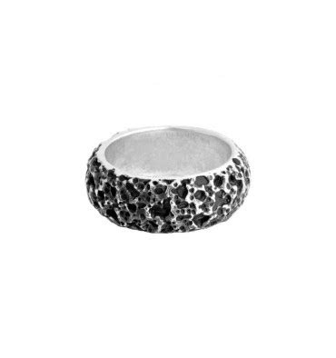king baby lava rock textured band isaac fine jewelry