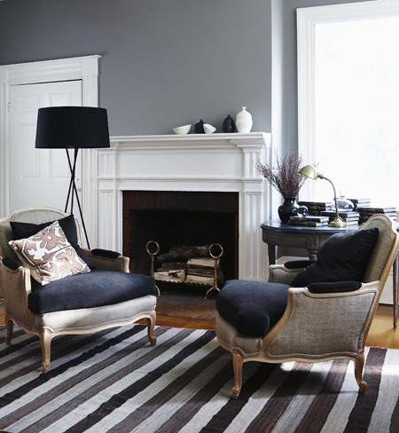 Grey Paint Colors - Traditional - living room - Valspar Aspen Grey ...